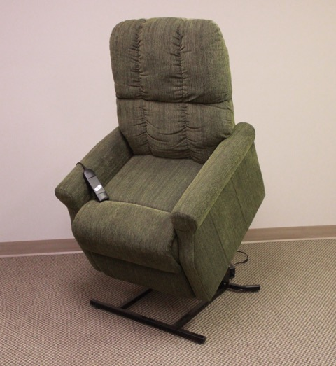 Sage Green Microfiber Lift Chair With Single Motor Lazy
