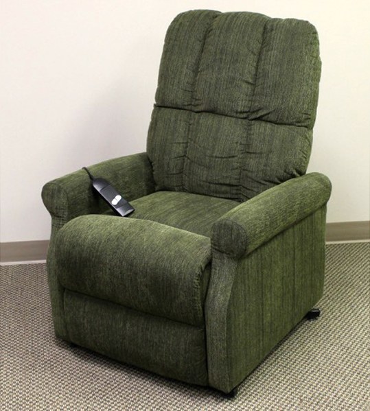 Power Lift Recliner In Sage Green Microfiber With Single Motor